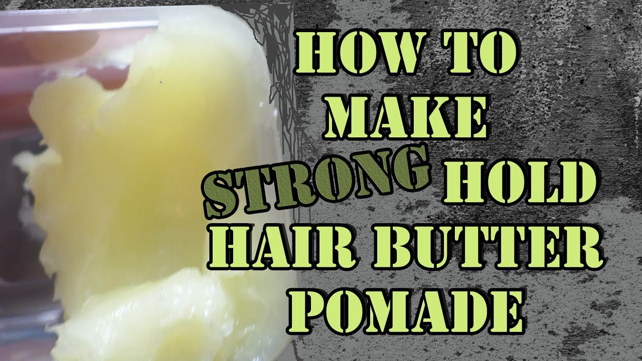 Strong Hold Hair Butter Pomade