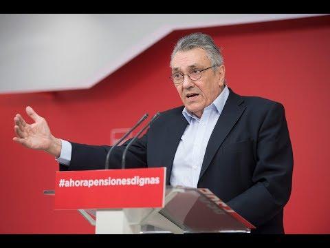 El PSOE pide que las pensiones suban un 1'6%