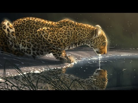 """Speed Paint – Photoshop """"Just A Sip"""" Leopard"""