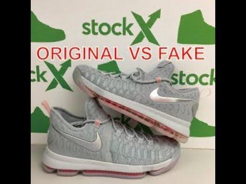 brand new e0e48 fc6ea distinguish Sneakers Nike Zoom KD 9 ORIGINAL VS FAKE