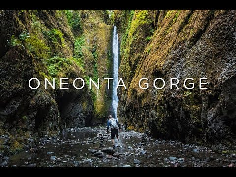 ONEONTA GORGE | River Walkway to Raging Waterfall of Oregon