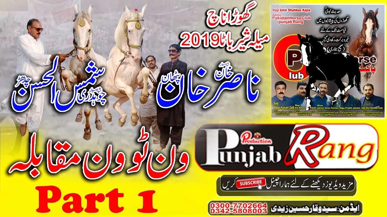 Best 1to1 Horse Dance Muqbala / Khan Nasir Khan vs Ch Shamshul Hassan / Mela Shear Bata 2019-176