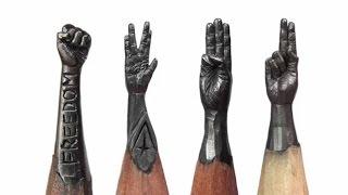 Epic Pencils Sculptures By Salavat Fidai