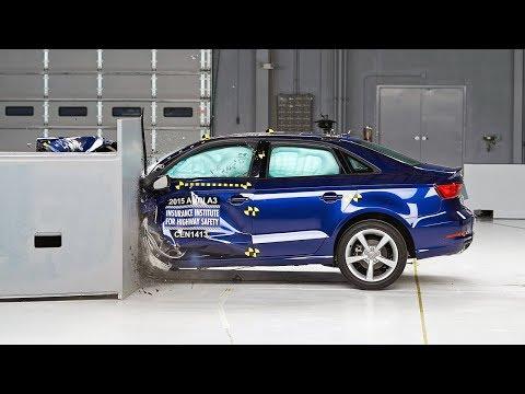 2015 Audi A3 driver-side small overlap IIHS crash test