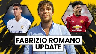 Varane Refusing Madrid Contract ROMANO Update! | Transfers Live