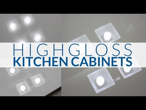 High Gloss Kitchen Cabinets-The Difference Between The 3 Most Popular High Gloss Cabinets
