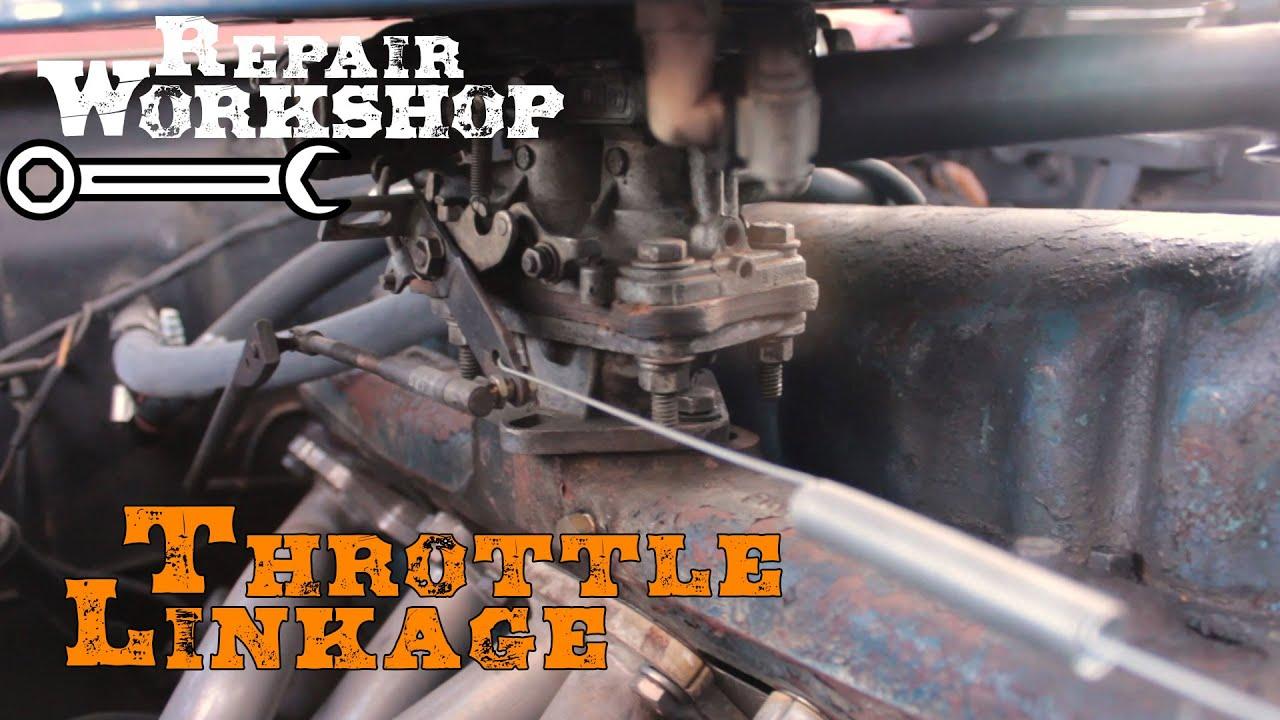 Throttle Linkage, Holley/Weber 2bbl Carburetor, Mustang 200 c i  i6 Engine  | Repair Workshop