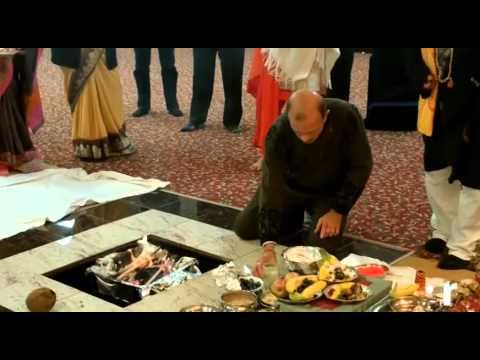 Holi celebration at Hindu temple