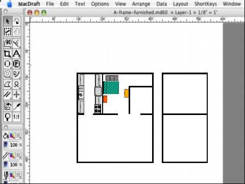 Macdraft fast and easy floor plans for the mac youtube Floor plan mac
