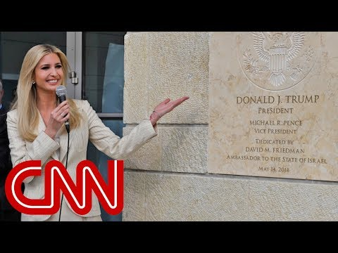 Ivanka Trump mocked for smiling at embassy opening