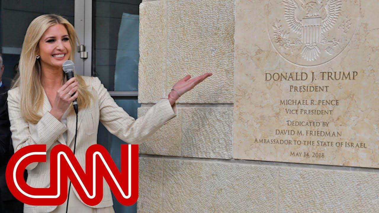 Ivanka Trump mocked for smiling at embassy opening