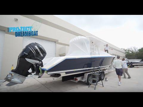 Florida Sportsman Project Dreamboat - 34' Venture Customization, Classic Hewes Resto
