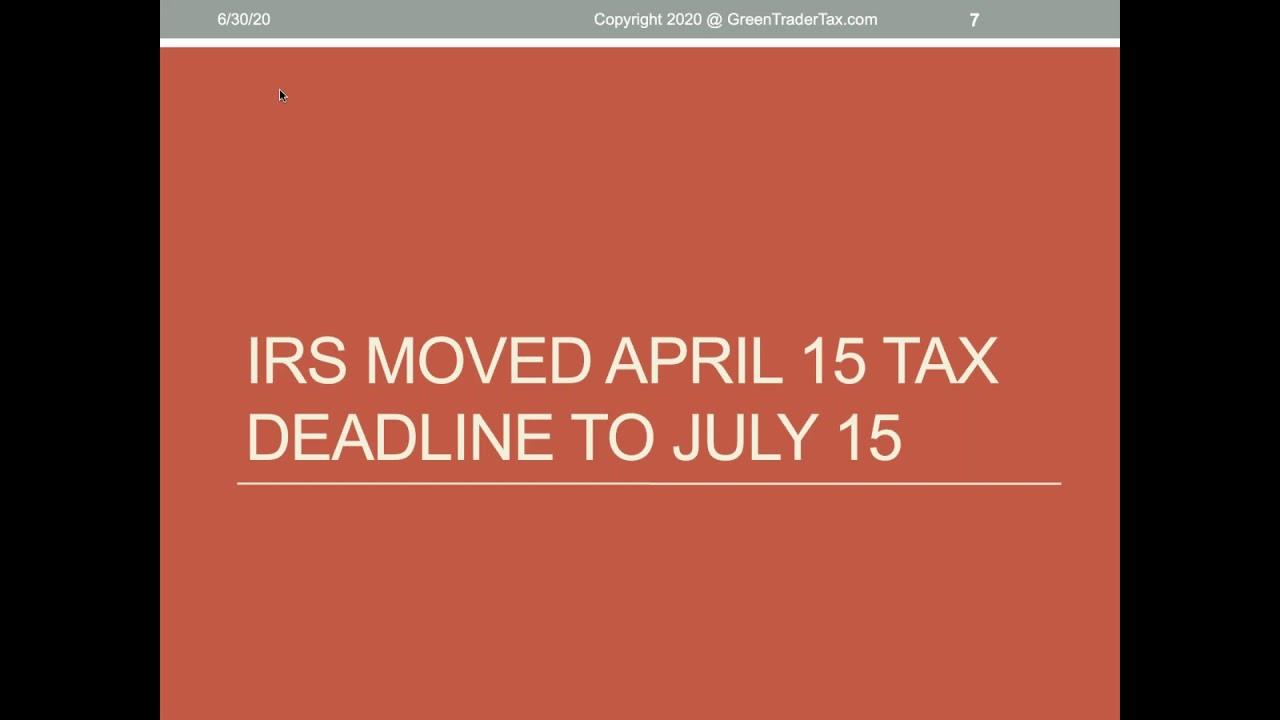 Webinar - GreenTraderTax - Last Minute Tax Tips & Extensions For Traders