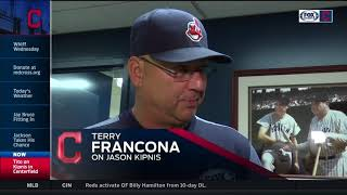 Cleveland Indians manager Terry Francona on Jason Kipnis playing center & getting at-bats