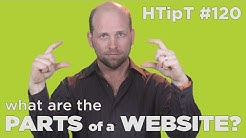 What are the parts of a website? #HTipT #120