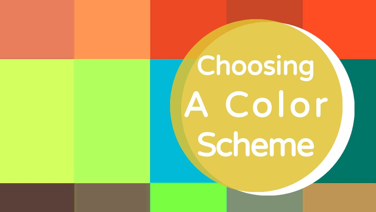 choosing a color scheme youtube