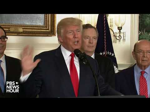 President Trump speaks at China intellectual property memo signing