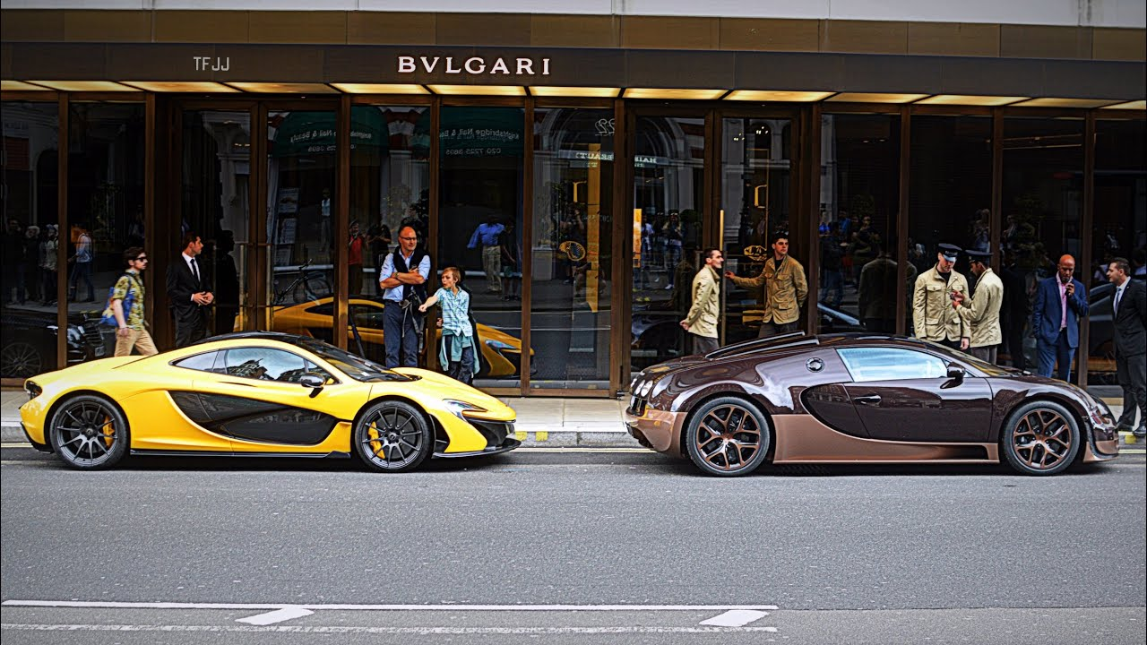 mclaren p1 and bugatti veyron vitesse rembrandt edition sounds in london y. Black Bedroom Furniture Sets. Home Design Ideas