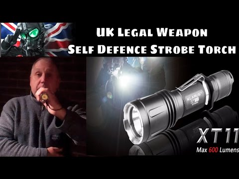 Uk Non Lethal Self Defence Weapon Xt11 Led Strobe Torch