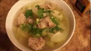 How To Make Vietnamese Winter Melon Soup With Pork Ribs - Canh Bi Dao Voi Suon Non