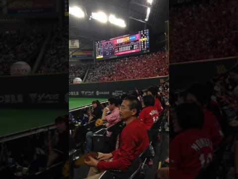 Carp over Fighters at Sapporo Dome