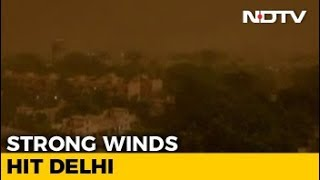 Rain, Dust Storm Hit Delhi With Strong Winds, 27 Flights Diverted