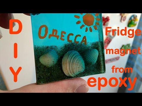 Fridge magnet from epoxy resin