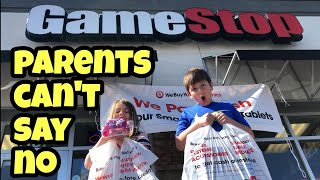 Parents Can't Say No For 24 Hours At Gamestop With Kids In Charge - No Spending Limit