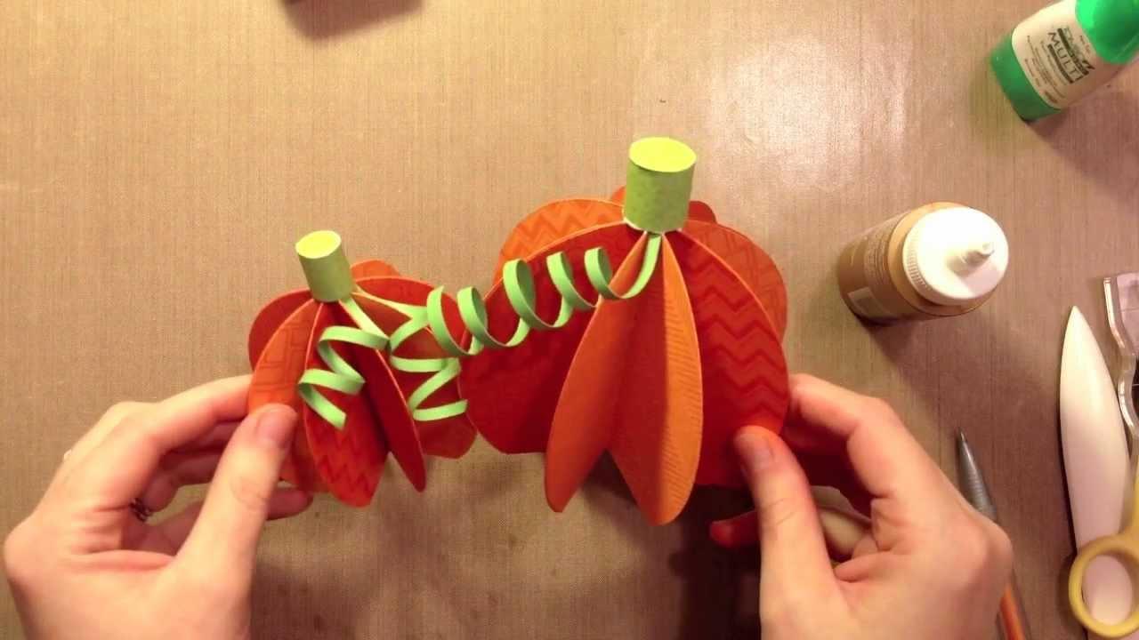 How tomake paper pumpkinsYouTube
