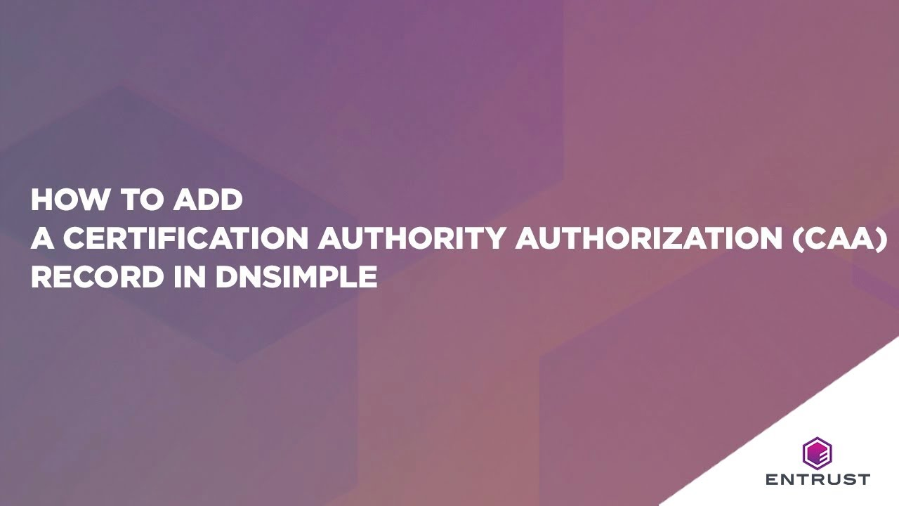 How to add a certification authority authorization caa record in how to add a certification authority authorization caa record in dnsimple xflitez Images