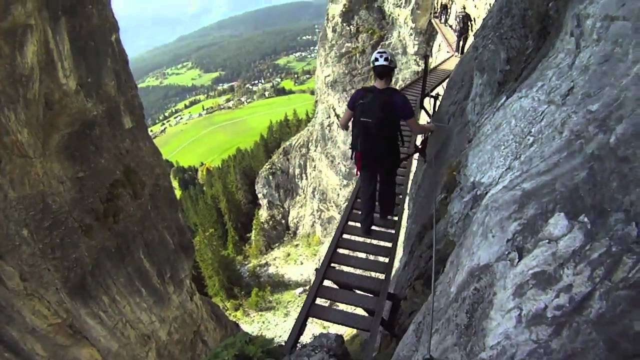 Klettersteig Flims : Pinut via ferrata flims switzerland youtube