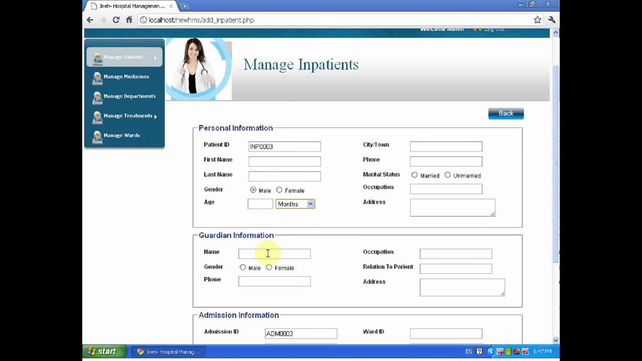 Jireh's Hospital Management System - YouTube