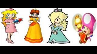 peach, rosalina, daisy and toadette - friday night