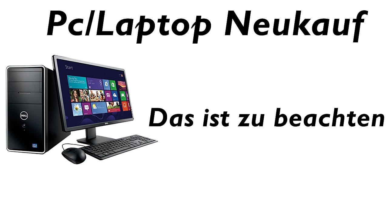 Neuer Laptop Erste Schritte
