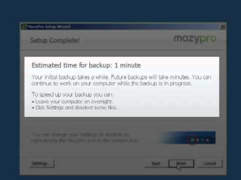 How To Install MozyPro (Windows)