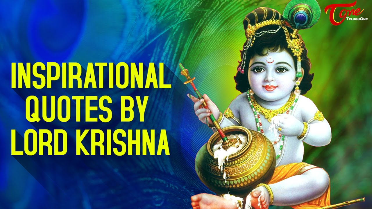Lord Krishna Quotes Glamorous Insipirational Quoteslord Krishna  Krishnashtami 2016  Youtube