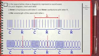 Q 05 ....L1 (Sound Waves) .... Ch 5 Waves IGCSE past papers ..... (Drawing sound waves)