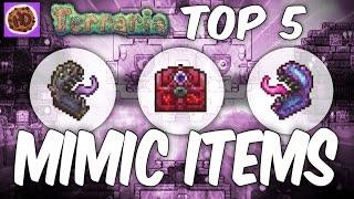 Terraria Top 5 Mimic Drops | 1.3 Hallowed Crimson Corruption Mimic thumbnail