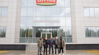 """Визит Тимати и команды Black Star Burger на мясокомбинат ГК """"Заречное"""""""