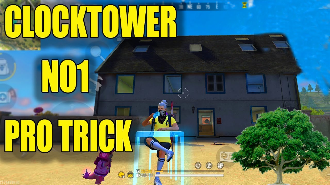 CLOCK TOWER NO 1 PRO TRICK[ BEST CLOCK TOWER TRICK]FREE FIRE BEST HIDE PLACE CLOCKTOWER||RUN GAMING