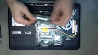 Ремонт ноутбука. Заміна пам'яті в ноутбуку Fujitsu A512