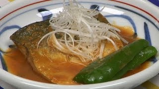 Saba Misoni (Mackerel Simmered in Miso Recipe)  Cooking with Dog