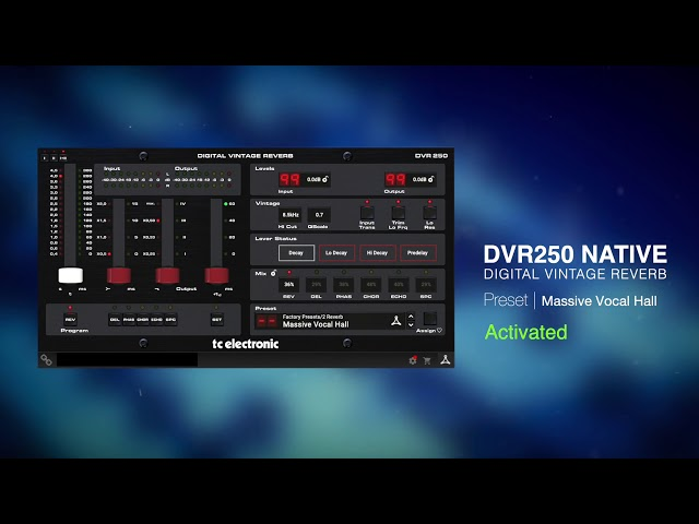 DVR250 Digital Vintage Reverb Native Plug-In - Sound Examples