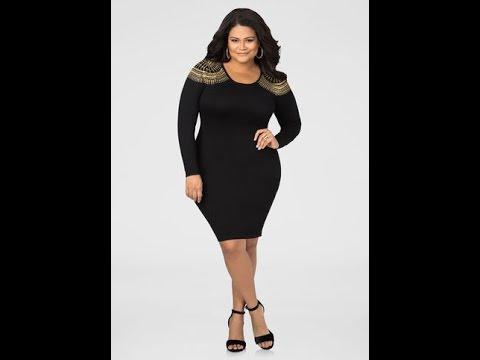 Plus Size Black Sweater Dresses Youtube