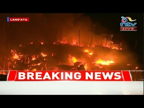 #NTVNews LIVE update on Lang'ata Southlands fire