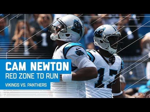 Cam Newton Fakes the Handoff & Scrambles for the Score!   Vikings vs. Panthers   NFL