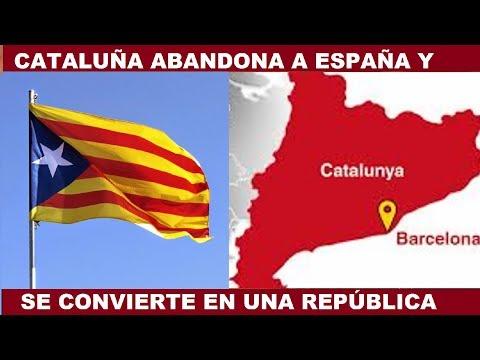 ESPAÑA SE FRAGMENTA: CATALUÑA ES YA UNA REPÚBLICA INDEPENDIENTE