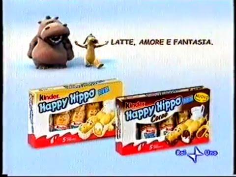 Kinder HAPPY HIPPO - Pubblicità ORIGINALE tv 2005 *RARA*