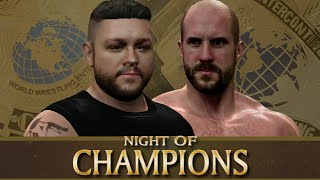 wwe 2k15 universe mode snme night of champions full match card snme