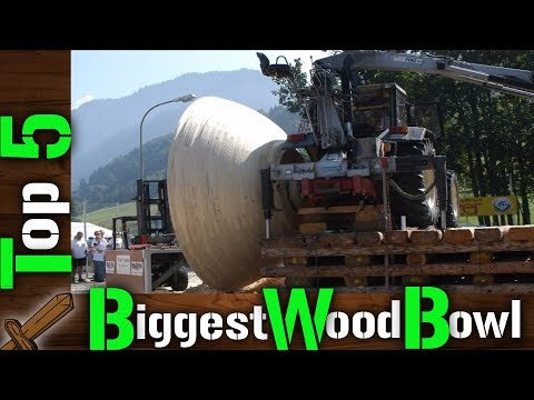 WoodTurning - Top 5 World's Biggest Wooden Bowl
